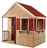Wendi Toys M12 Summer Villa | Casa infantil de madera roja para exterior | Casa de juegos de...