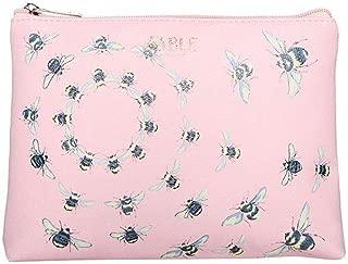 Fable Womens/Ladies Vintage Bee Print Flat Makeup Bag