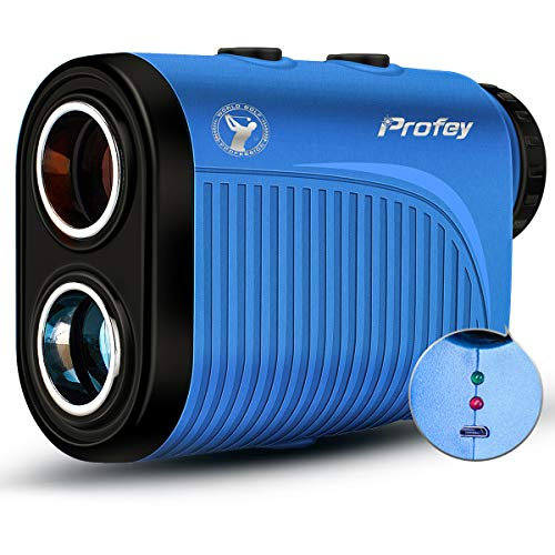 Golf Rangefinder,1500 Yard Laser Range Finder with Slope Calculated, Pin Sensor,Flag-Lock,Slope ON/Off Continuous Scan for PGA Golfer 6X Rechargeable Golf Rangefinder- Profey