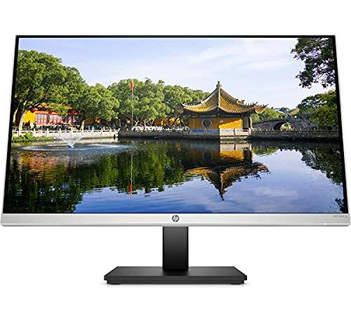 HP 24mq Monitor - 23,8 Zoll Bildschirm, QHD IPS Display, 60Hz, HDMI, VGA, 5ms Reaktionszeit, höhenverstellbar, drehbar, neigbar, silber/schwarz