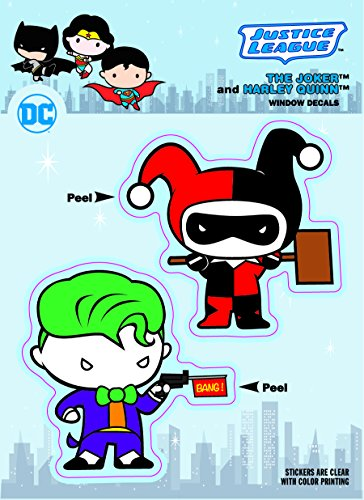 DC Comics ST DCCB JKHQ Chibi Justice League Joker & Harley Quinn Duo Car Window Decal