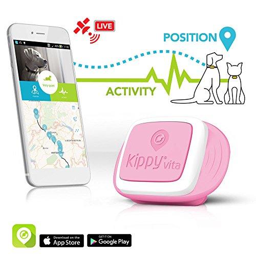 Traceur GPS Kippy VitaS pour Animaux de Compagnie | GPS et Moniteur d'activité pour Chiens et Chats pesant 5kg...