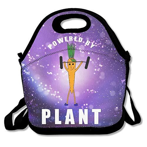 Janeeyre27 Große, wiederverwendbare Picknick-/Schul-/Essens-/Lunch-Tasche mit praktischer Schultertasche, tragbar, zum Antrieb von Pflanzen, Gewichtheben, niedliche Karotte