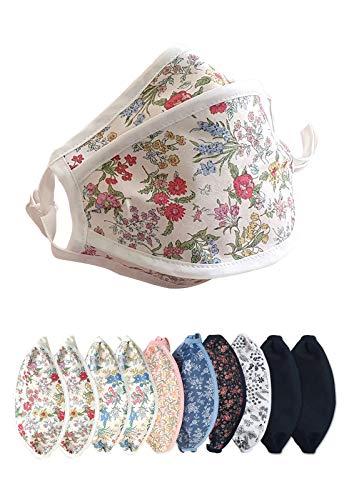 10pcs Cute Cotton Face Masks Washable Filter Replacement Fashion Unisex Kpop Mask