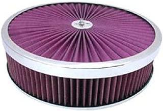 Chrome 14 x 3 Super Flow Filter Air Cleaner Set Washable Element Dominator Base