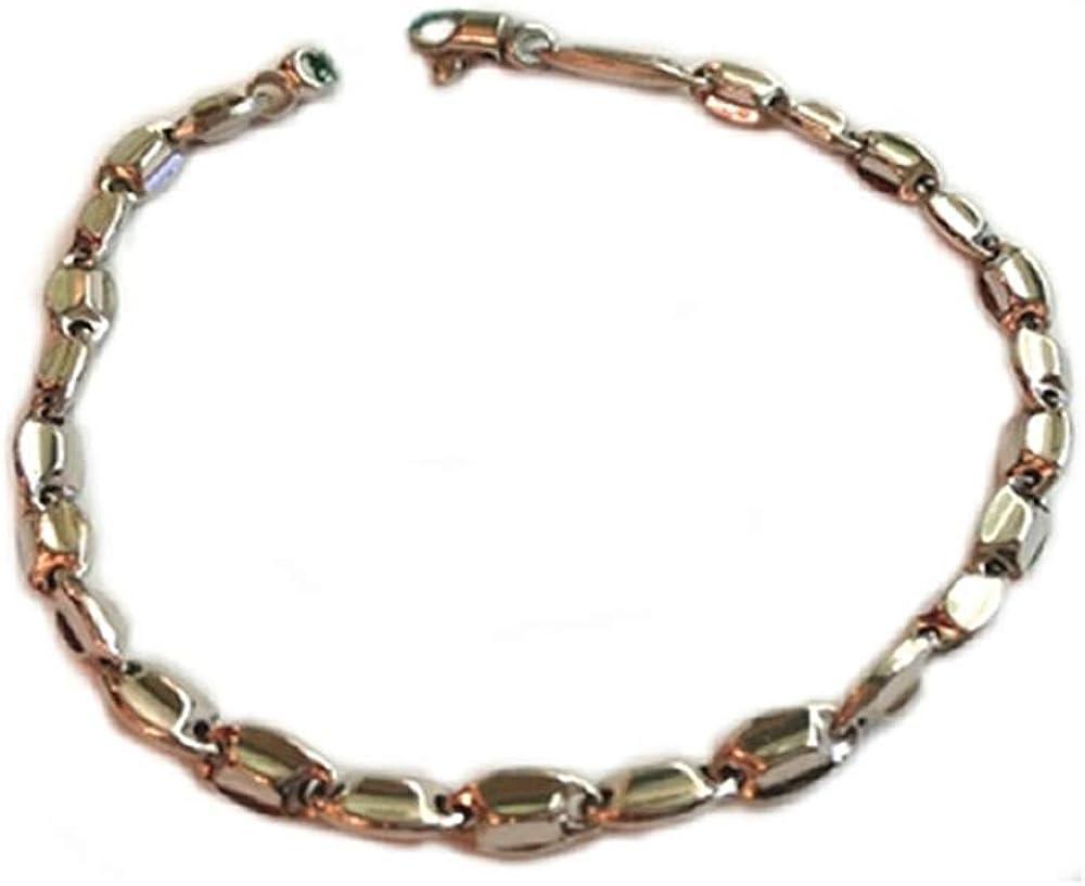 Gioielleria momenti preziosi,bracciale da uomo in oro bianco 18kt/750(6,33 gr) lucido e rodiato brob6.33