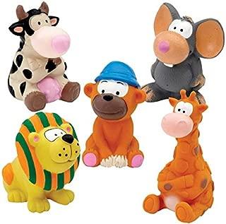 Zanies Latex Squeaker Dog Toy- Zoo Animals Medium(1 Toy)