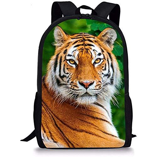 Rugzak, basisschooltas gepersonaliseerde tijgerprint rugzak voor kinderen