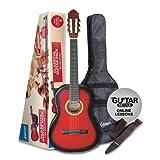 Ashton SPCG44TRB Guitarra clásica tamaño regular - color rojo