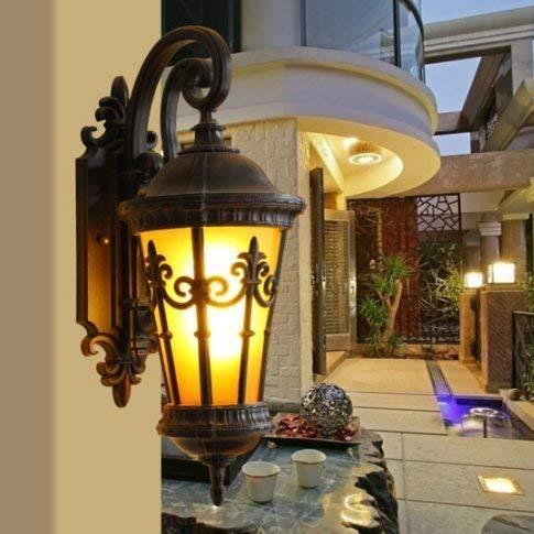 Lámpara de pared de escalera impermeable al aire libre retro Aplique de aluminio antioxidante a prueba de lluvia exterior E27 LED Villa Decoración Patio Balcón Puerta Porche Luz de pared impermeable
