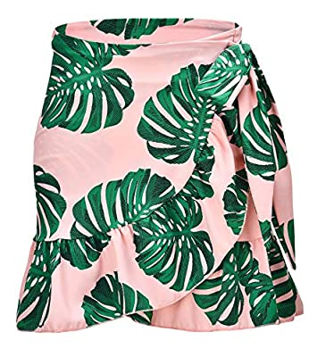 ChinFun Women's Active Skirts Swimsuit Bathing Suit Cover-ups Sarongs Wrap Beachwear Athletic Cover up Pink Banana