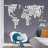 Grandes Extraíbles Pvc Mapa del Mundo Pegatinas de Pared Mapa Blanco Vinilo Arte Mural Decoración para el Hogar Wallpaper Mapa del Mundo Wallpaper Posters