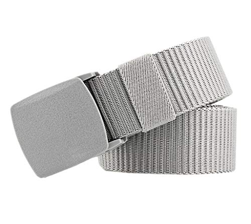 COMVIP 3.8CM Breite 130CM Länge Fashion Damen Gürtel Jeans Gürtel Taillegürtel Hüftegürtel Aus Segeltuch Grau