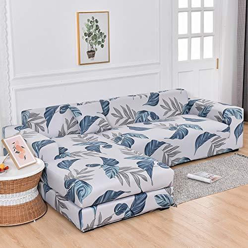 WXQY Sala de Estar elástica en Forma de L Todo Incluido Funda de sofá antiincrustante Funda de sofá de Esquina retráctil Chaise Longue A20 3 plazas