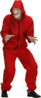 Halloween Dali Red Jumpsuit Cosplay Custume Clown Clothing The Paper House La Casa De Papel Costume Jumpsuit With Mask
