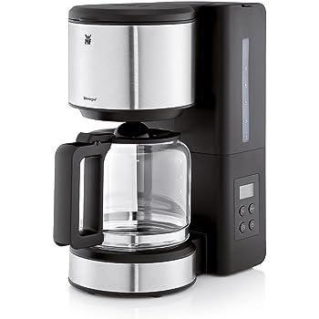 WMF Stelio Aroma Cafetera De Filtro Con Jarra, 1000 W, 1.25 litros, Cromargan/Vidrio, Negro/Plateado: Amazon.es: Hogar
