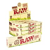 RAW Organic KS Cones | 12 Packs | 32 Cones Per Pack | Organic Chlorine Free Prerolled RAW Papers with Tips