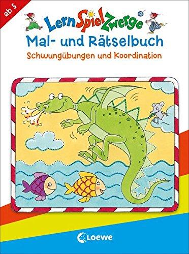 LernSpielZwerge - Mal- und Rätselbuch - Schwungübungen und Koordination