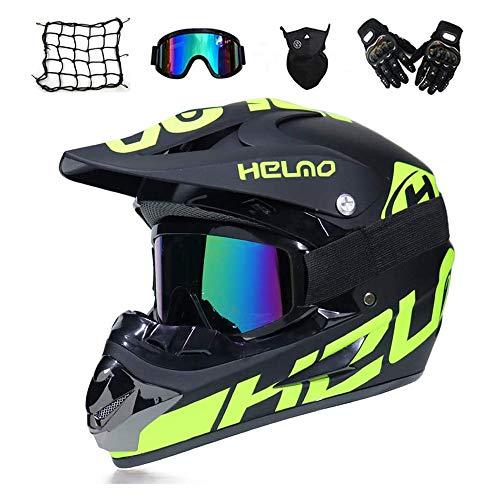 Wansheng Motorrad Motorrad Motocross Helme /& Handschuhe /& SCHUTZBRILLE D.O.T Standard Kinder Quad Bike ATV Go Kart Helm Fox Rockstar Rot,Redfox,S55~56CM