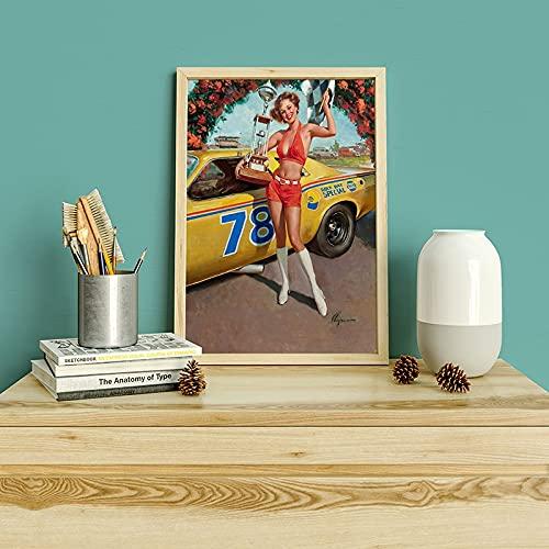 Gil Elvgren Pin retro sexy mujer impresiones y carteles lienzo arte de la pared imágenes familia pinturas en lienzo sin marco Q-5 15x20cm