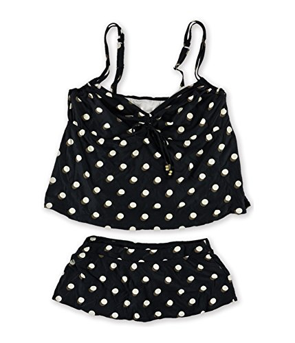 Coco Reef Womens Lingerie Skirted 2 Piece Tankini, Black, 44HH