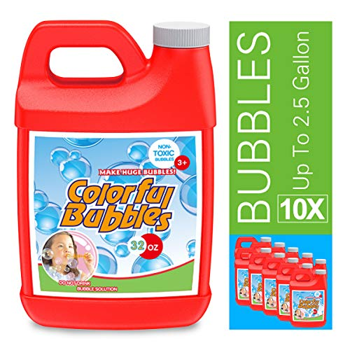 HOMILY Bubble Solution Refill 32 oz (up to 2.5 Gallon) Concentrated Bubbles Refill Solution for...