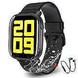 Smartwatch Offerta Del Giorno 1.4',Cuffie Bluetooth Sport Offerte, Smartwatch per Donna Uomo Impermeabile IP68 Fitness Tracker attività con Cardiofrequenzimetro Pedometro per Android iOS(Nero)