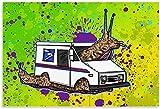 Laminas Para Cuadros Poster Vintage de caracol, Poster artísticos de animales, póster artístico en lienzo, y Poster de Decoracion de impresión de Cuadros artística para pared 60x90cm x1 Sin Marco