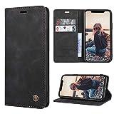 RuiPower para Funda iPhone 11 con Tapa Funda iPhone 11 Libro Fundas de Cuero PU Premium Magnético Tarjetero y Suporte Silicona Carcasa iPhone 11 (6.1'') - Negro