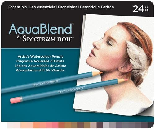 Spectrum Noir 24 Piece Noir AquaBlend Watercolour Pencil Set-Essentials