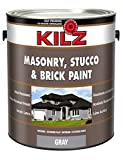 Product Image of the KILZ Interior/Exterior Self-Priming Masonry, Stucco and Brick Flat Paint, 1 gallon, Gray