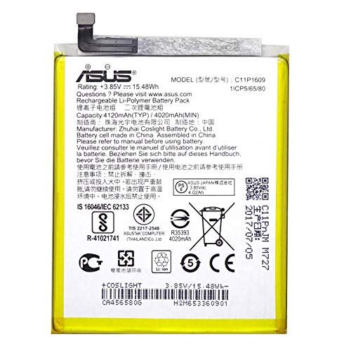 Batteria originale ASUS 4120mAh 15.48Wh per ZenFone 3 MAX ZC553KL BULK C11P1609