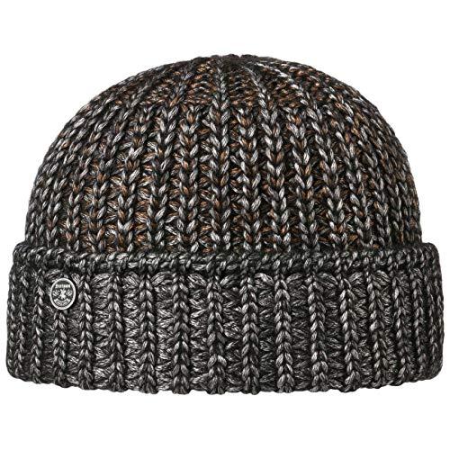 Stetson Saloma Shiny Beanie Strickmütze Wintermütze Umschlagmütze Damen - Made in Italy mit Umschlag Herbst-Winter - One Size grau