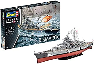 Revell- Bismarck Maqueta Acorazado, 14+ Años, Multicolor, 71,8 cm de Largo (05040)