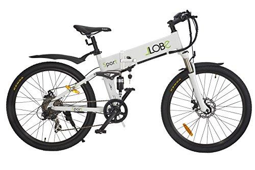 LLobe Erwachsene Elektrofahrrad Sport, Weiß, One size