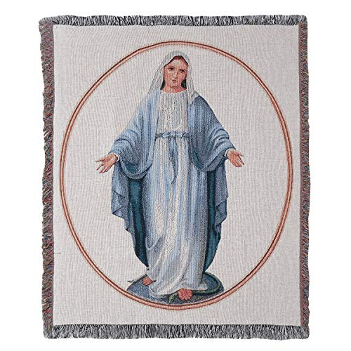 Manual Woodworker Virgin Mary Tapestry Throw Blanket -...