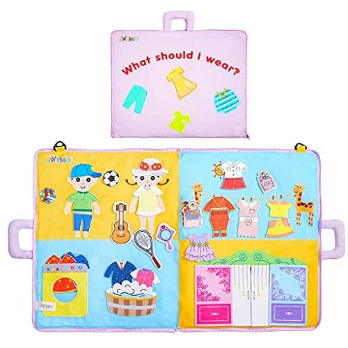 ZWWZ Spielzeug ruhig Buch 3D Nicht verblassende Tuch Buch elternkind Kommunikation weich Tuch Buch Lernen Bildung Kinder Weihnachten (Farbe: a) MISU (Color : D)
