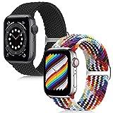 Best Apple Watch Bands 38mm - KIBDSNG Braided Solo Loop Sport Strap Compatible Review