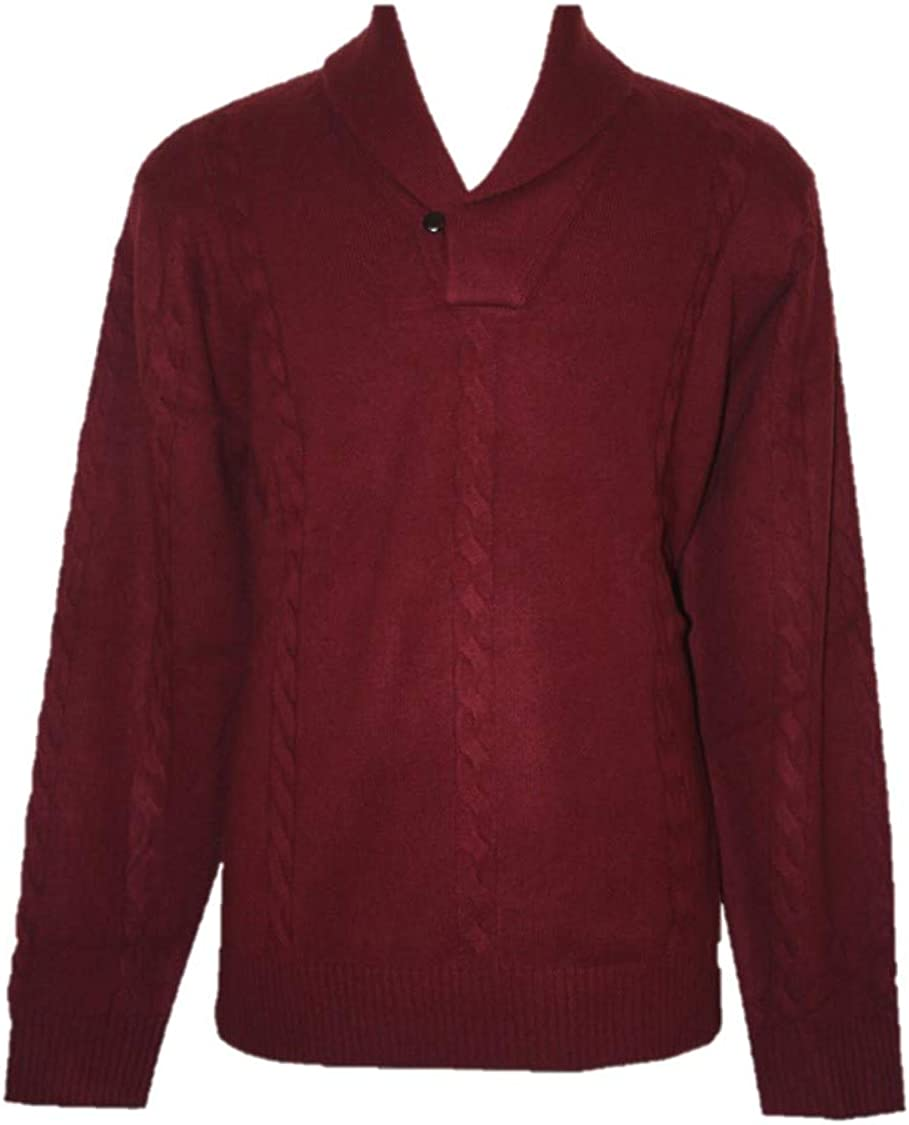 Shephe 4 Ply Men's Cashmere Shawl Collar Pullover Sweater
