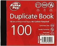 Pukkaパッド105x 130mm Plainルールド複製ブック(Pack of 5)