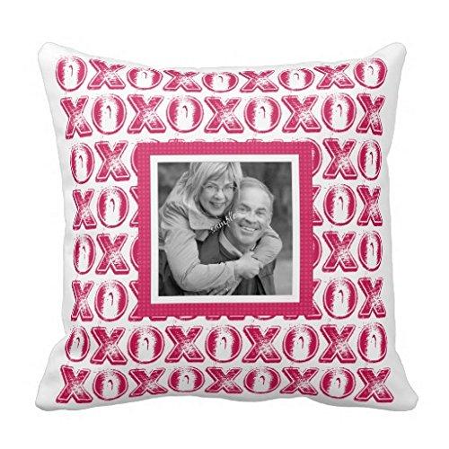 Valentine kussen paar foto kussen decoratief kussen hoofdkussen decoratie sierkussen sofakussen Valentijnsdag huwelijk liefde geschenk Vierkant. 45*45cm(18