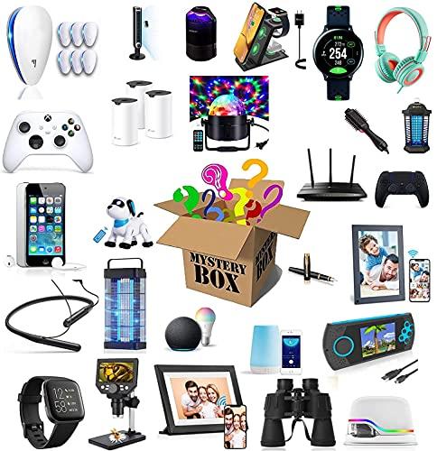 LTAYZ Caja misteriosa Misterio caja electrónica producto afortunado sorpresa ciega bolsa de regalo electrónico cargador inalámbrico inteligente reloj teléfono altavoz computadora bluetooth auricular g