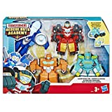 Transformers Rescue Bots - Coffret de 4 Robots Secouristes 12cm - Jouet transformable 2 en 1