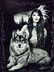 "Wolf ""Harmony"" Signature Collection Queen Size Blanket"