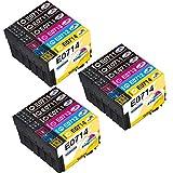 Kingway Repuesto para Epson T0715 cartuchos de impresora T0711 T0712 T0713 T0714, cartuchos compatibles para Epson Stylus S20 Stylus Office BX300F BX610FW SX100 D92 SX400 SX200 DX4400 DX8400 SX210