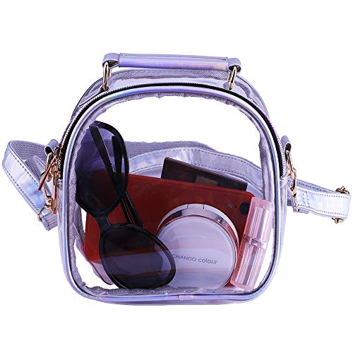 Stadium Approved: Clear crossbody bag is suitable for all places where require clear bags and meets NFL,NCAA,MLB and PGA tournament guidelines. Durable Material: Clear shoulder tote bag made of heavy duty clear PVC waterproof material.Shoulder strap ...