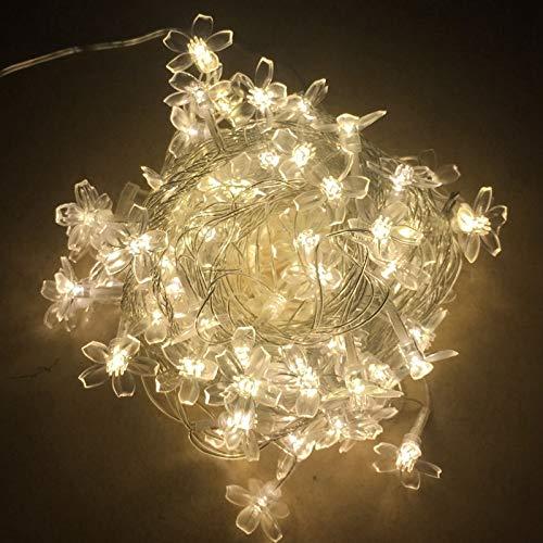 Guirlande de fleurs LED guirlande lumineuse guirlande lumineuse décoration de fête d'arbre de noël batterie 2m10 leds
