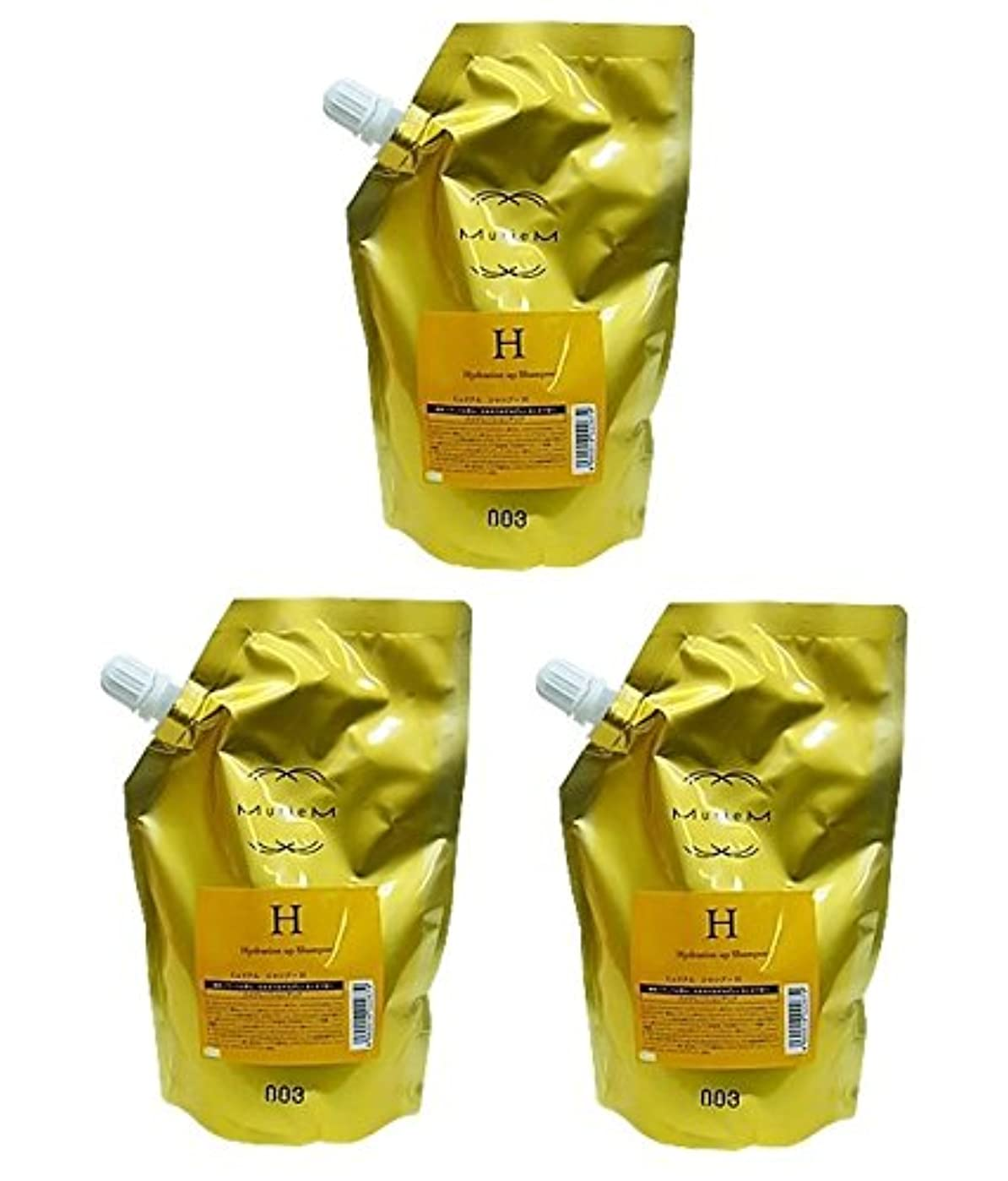 座標風味勤勉な【X3個セット】 ナンバースリー ミュリアム ゴールド シャンプー H 500ml 詰替え用