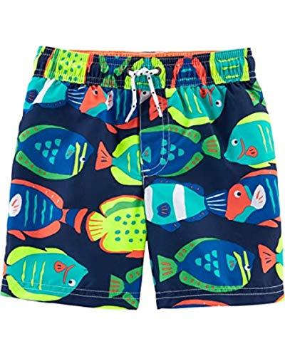Carter's - Bañador para niño,  Azul marino/Pescado, 6