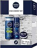 NIVEA MEN High Energy Pflegeset, Geschenk für Männer mit Deodorant, Pflegedusche und Hautpflege...